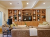 Familyroom with built ins