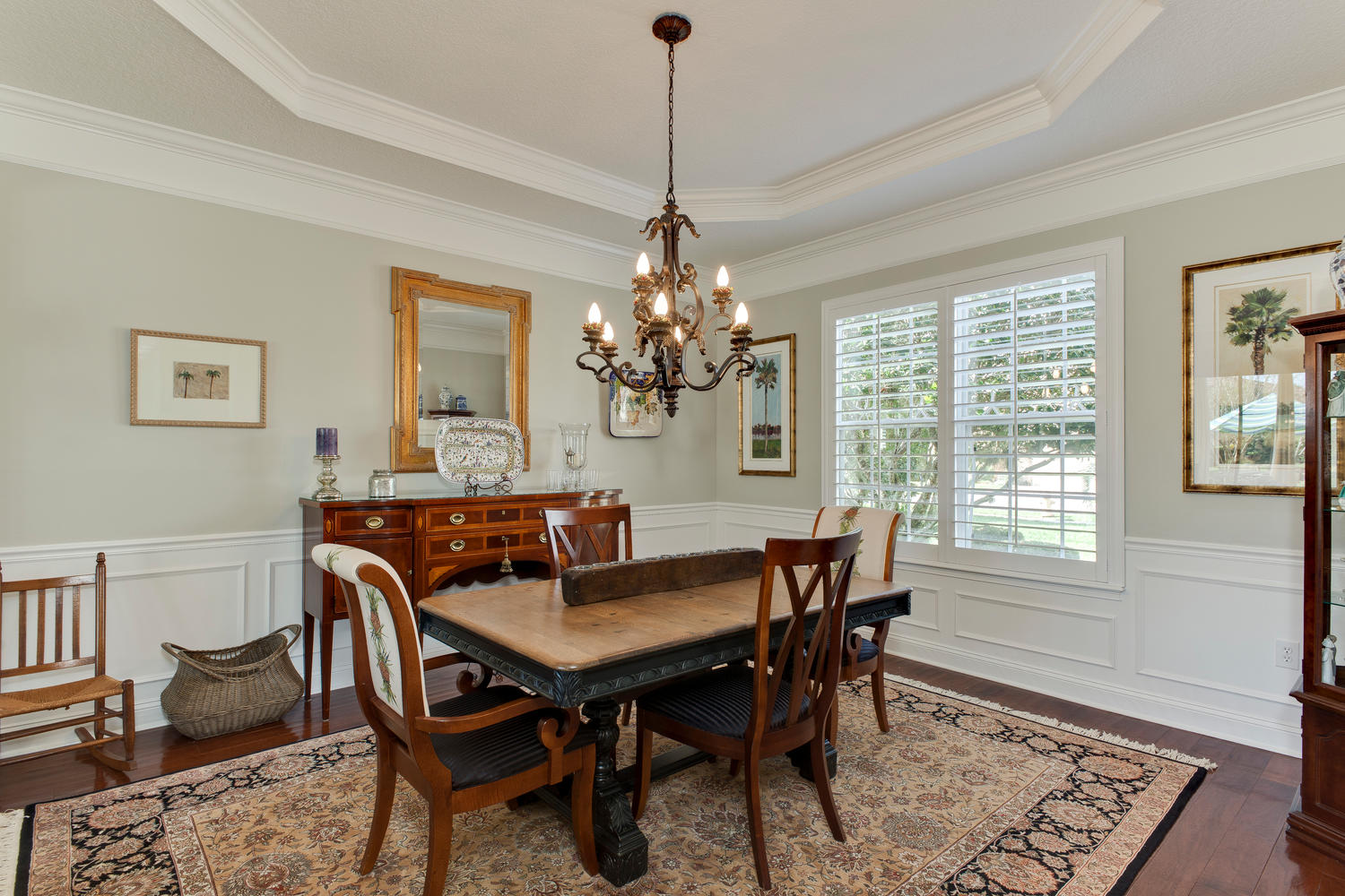 Formal Dining with wainscoating